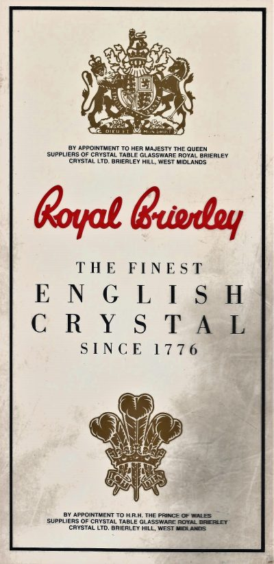 Royal Brierley crystal - Up to 60% off